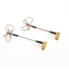 Cloverleaf antennas 5.8GHz Right angle SMA Male without enclosure